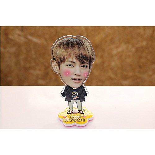 (BTS V Photo Desk Stand Miniature Cutout Key Chain Set with Postcard (V))