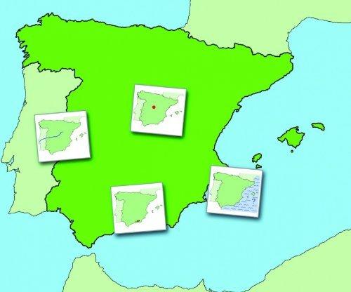 Wildgoose Education SP0013 magnético Mapa de España, 74 cm x 62 cm ...