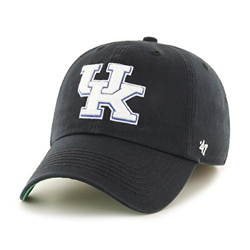 '47 NCAA Kentucky Wildcats Franchise Fitted Hat, Black B, Medium (Franchise Cap)
