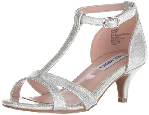 Kids Heel Shoes (Steve Madden Girl's JPRINCESS Sandal, Silver Glitter, 13 M US Little)