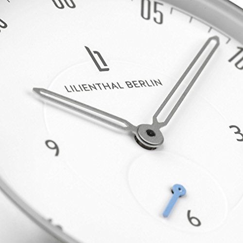Lilienthal Berlin Watch - Made in Germany - Designed in Berlin. Model L1 with Stainless Steel Case (Size: 37.5 mm, Case: silver / Dial: white / Strap: brown) by Lilienthal Berlin (Image #9)