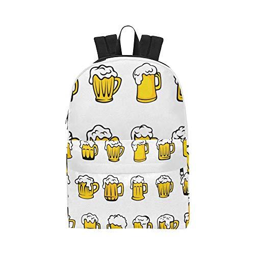 Beer Drink Pattern Cartoon Decoration Classic Waterproof Daypack Travel Bags Causal College School Backpacks Rucksacks Bookbag For Kids Women Men Student Travel Outdoor Sport Daily Picnic