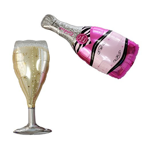 Champagne Ball Ornament - Langxun Party Supplies Balloons (Pink Champagne)