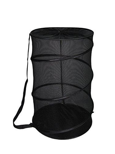 (Sunbeam Mesh Barrel Laundry Hamper (Black))