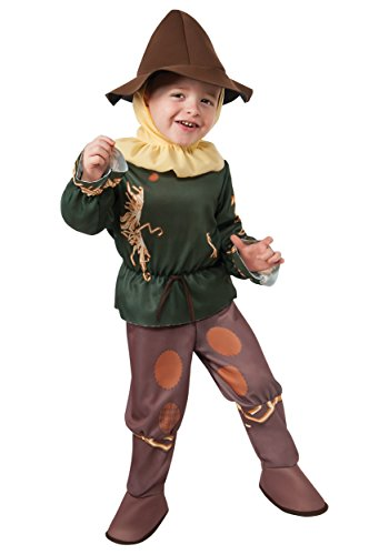 Wizard Costume From Wizard Of Oz (Rubie's Costume Baby's Wizard Of Oz 75Th Anniversary Scarecrow Toddler Costume, Multi, Toddler)