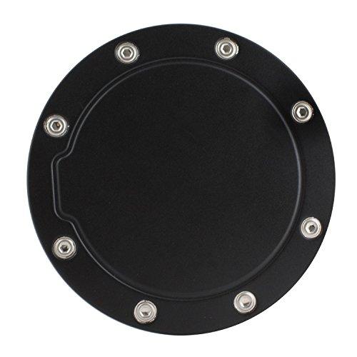 (Gas Cap Door, Stainless Steel Black Gas Door Replacement for Chevrolet Gmc)