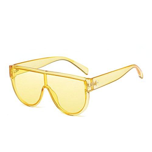 TIANLIANG04 De Rojo Gafas Enormes Unas C4 Sombras Sol De Uv400 Square Espejo Sol Yellow Rosa Gafas Negro Yellow C6 Mujer rWw8nrg