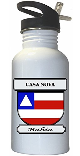 casa-nova-bahia-city-white-stainless-steel-water-bottle-straw-top