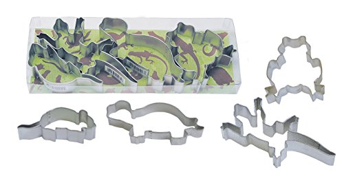R&M International 1937 Critters Cookie Cutters, Lizard, Mouse, Turtle, Frog, 4-Piece Set