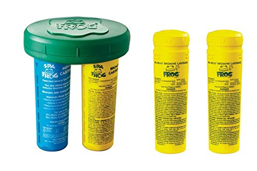 Combo of Spa Frog Floating System and 2 Pack of Bromine Cartridge