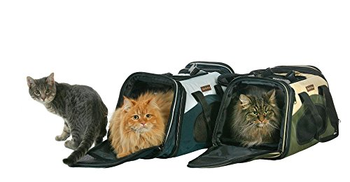 The One Bag Expandable Pet Carrier - Small - Navy - Seatbelt / Trolley Fixture Included - Airline Approved Size