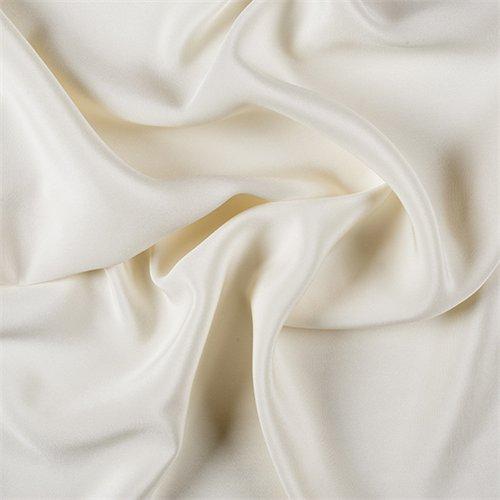 4 Ply Silk Fabric - Eggshell 4 Ply Silk Crepe, Fabric By the Yard