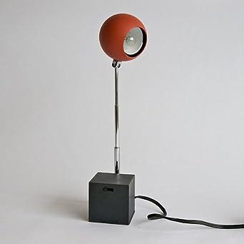 Wall Desk Lamp: Lightolier Lytegem Michael Lax Wall/Desk Light Lamp Gunmetal/Persimmon, 8005,Lighting