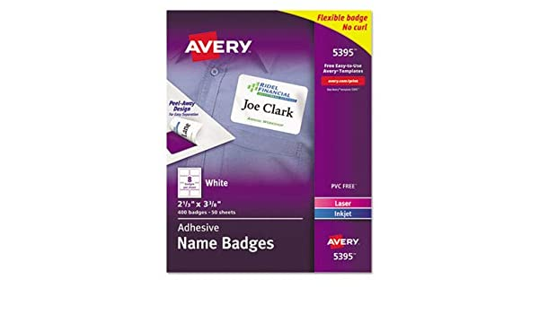 amazon com ave5395 avery name badge label office products