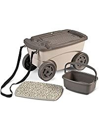 sweet garden carts home depot. Home Improvements Rolling Portable Garden Seat With Storage Outdoor Lawn Gardening  Cart Wagon Carts Amazon com