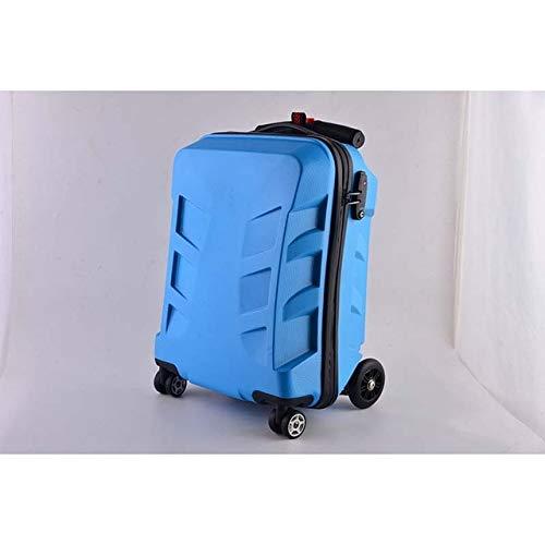 SPRINGYOU 多機能スケートボードローリング荷物パスワードスーツケースホイール 20 インチクリエイティブキャビントロリーコンピュータ旅行バッグ 20\ ブルー B07QWVYQSM