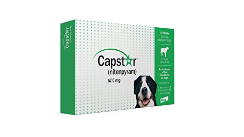 Elanco Animal Health Capstar Green Box Flea Oral Treatment for Large Dogs Over 25lbs. 6 Pill/Tablets