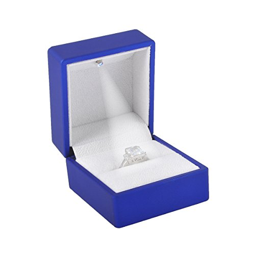Velvet Ring Box Engagement Ring Box Ring Case with Light for Wholesale -