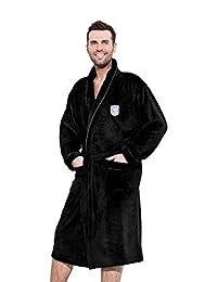 Men Soft & Warm Short Bath Robe Housecoat Dressing Gown Bathrobe