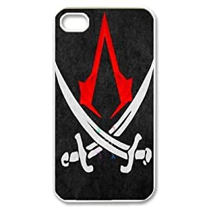 Alison Marvin Feil's Shop Assassin's Creed TPU Back Cover Case for iphone 4/4S Phone Cases-4S4279