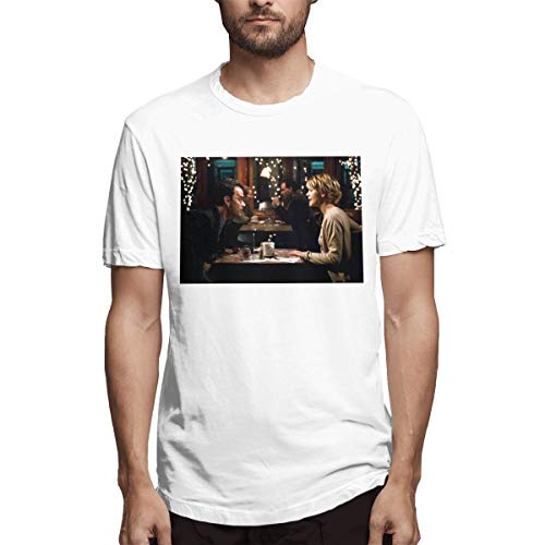 COCOBEFF You've Got Mail Film Man Fashionable T Shirts M White