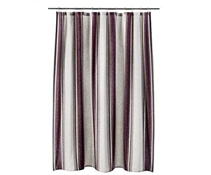 Image Unavailable Not Available For Color Threshold Red Purple Flour Stripe Shower Curtain
