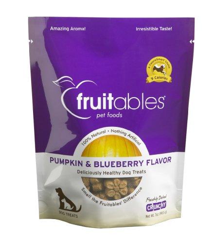Fruitables Pumpkin Blueberry Dog Treats Pack of 8, 7-Ounce Pouches