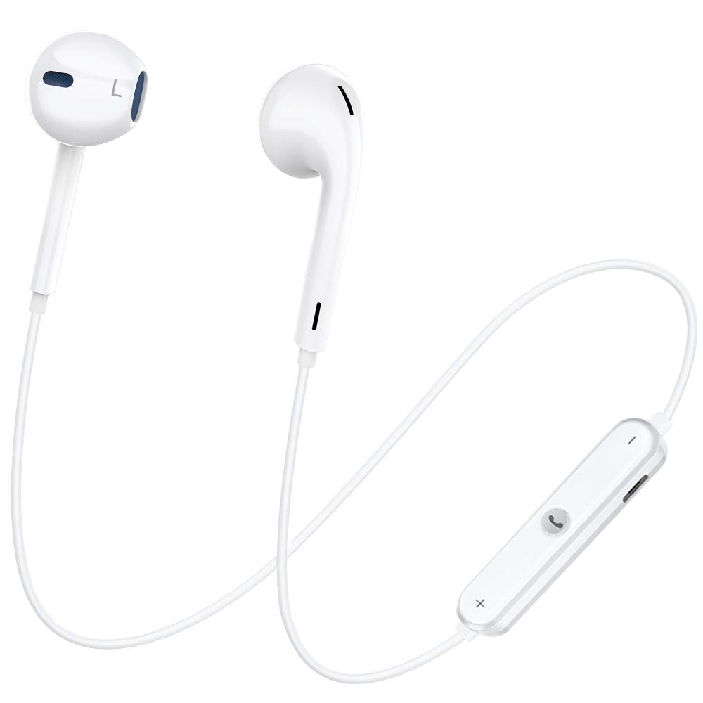 Bluetooth Headphones, Dostyle Wireless Headphones Bluetooth V4.1 Earbuds with Mic Stereo Earphones Noise Cancelling Sweatproof Sports Headset for iPhone X 8 Plus Samsung Galaxy S9 and Android Phones.