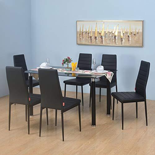 @home by Nilkamal Issac 6 Seater Dining Set  Black