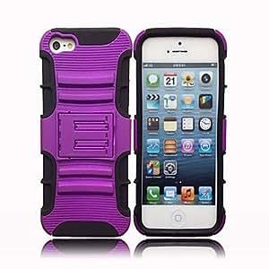 comprar 2-en-1 caso duro para el iphone 5 con soporte (colores surtidos)