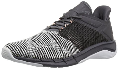 Reebok Women's Fast Flexweave Running Shoe, White/ash Grey/Black/Desert dust, 6.5 M US
