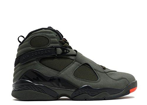 Nike Herre Air Jordan Retro 8 Undftd Basketball Sko Sequoia, Max Orange-sort