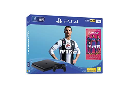 Videoentity.com 41UXCTLnGPL Sony PlayStation 4 1TB Console (Black) with FIFA 19 Ultimate Team Icons and Rare Player Pack Bundle