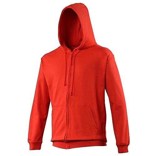 AWDis Zoodie, Capucha para Hombre Fire Red