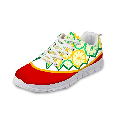 Running DESIGNS Mesh Weight Sneaker Shoes Red Light FOR Relax Women's Yellow Fashion Breathable U vZ1Hq5