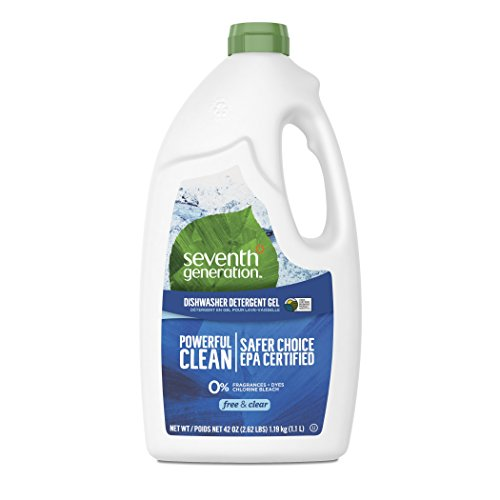 Seventh Generation Free and Clear Dishwasher Detergent Gel 42 Fluid ounce (Dishwasher Natural Detergent Gel)