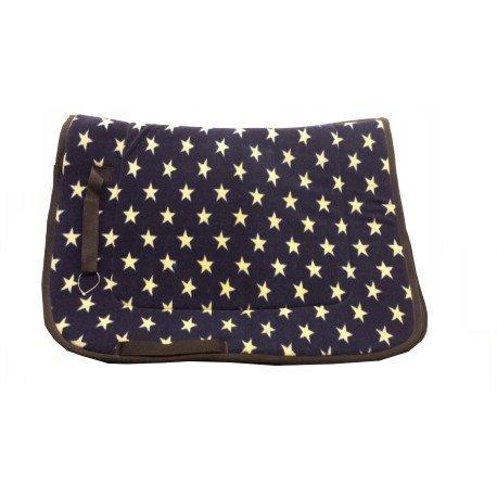 Sheldon Star Saddlepad ( Fleece Velvet feel) - Available in 2 colours in Full size only Sheldon Star Saddlepad - Navy William Hunter Equestrian