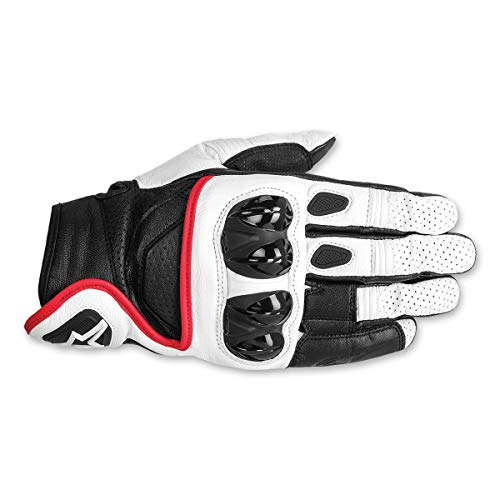 Alpinestars Men's Men&rsquo,s Celer Black/White/Red Leather Gloves 3301-2192