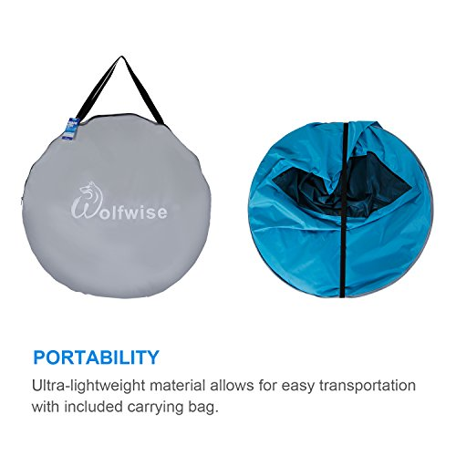 Wolfwise Upf 50 Easy Pop Up Beach Tent Instant Sun