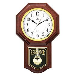 Wall Clocks Best Pendulum, Rhythm Magic Motion Musical Clock, Battery Operated, for Living Room, Bathroom, Kitchen & Home Décor.