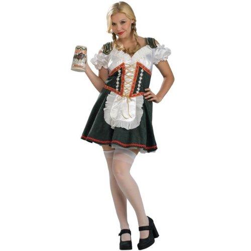 Beer Garden Girl Costume - Plus Size - Dress Size 16-22 -