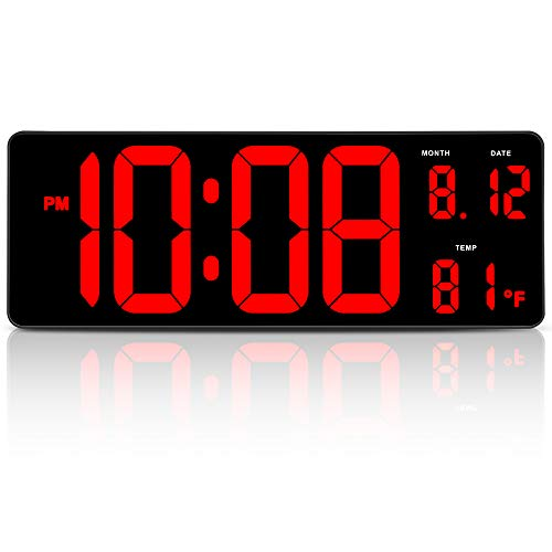 large wall clock digital - 6