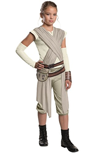 Mememall Fashion Deluxe Rey Girls Jumpsuit Child Costume (Mad Scientist Deluxe Adult Costume)