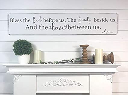 Amazon Com Bless The Food Before Us Rustic Kitchen Wall