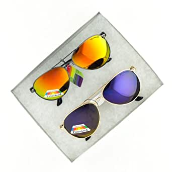Polarized Color Mirror Fashion Aviator Sunglasses P&P Inc.