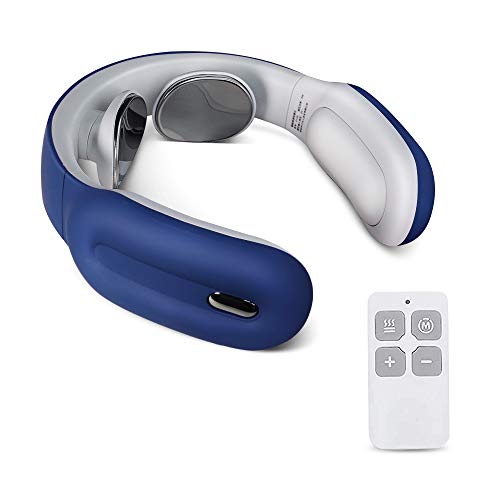 Smart Neck Massager with Heating Function, Wireless Travel Neck Massager,Muscle, Shoulder, Cervical Pain Relief