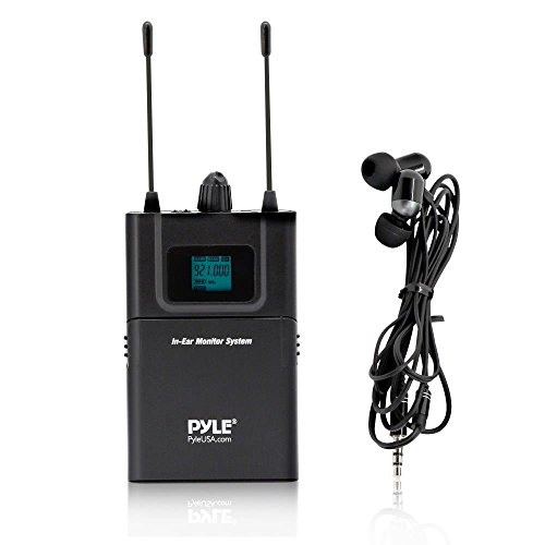 PRTPDWMN49REI Beltpack Transmitter Wireless Microphone - UHF 32-Channels System Set with Headset and Lapel Microphones, Perfect for Karaoke Music and Conference, Clip-on Lavalier - Pyle