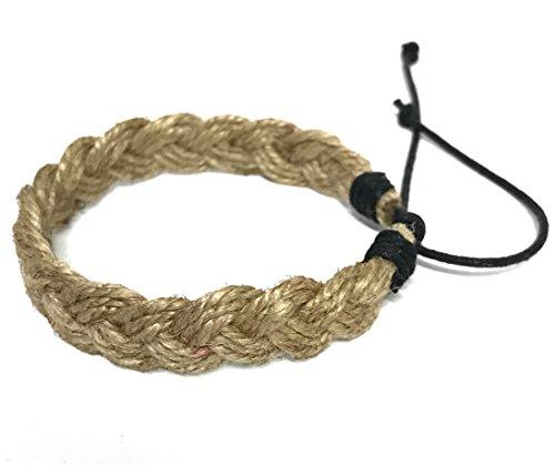 Hawaiian-Surfer-Style-Natural-Hemp-Braided-Bracelet-Handmade-Bracelet-Adjustable-Cord