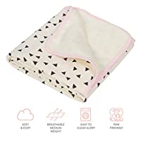 """Humble Bebe Luxury Plush Single-Layer Baby Blanket. 30""""x35"""" Pink Trim. Best Baby Shower Gift for Newborns, Infants, Toddlers"""