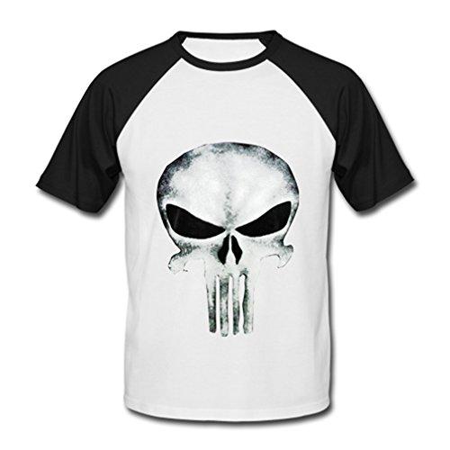 Morimo The Punisher Thomas Jane Men's Baseball Shirt Black 2XL
